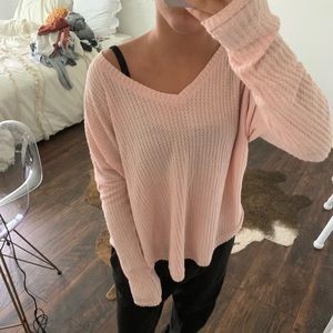 Pink sweater from aero